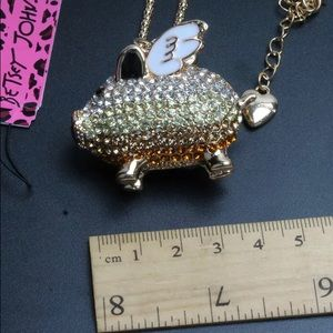 Betsey Johnson Jewelry - BETSEY JOHNSON~ When Pigs Fly Necklace